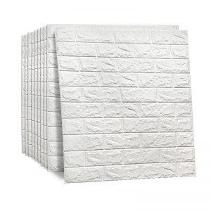 Self-Adhesive-Wallpaper-3D-White-Brick-PE-Foam-Wall-Sticker-Panel